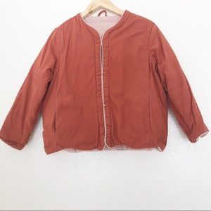 Urban Outfitters Orange Rust Heavy Puffer Jacket